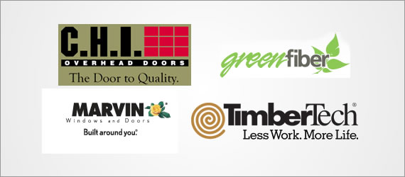 C.H.I. Overhead Doors, Green Fiber, Marvin, Timber Tech